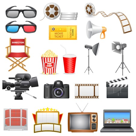 vector illustration of entertainment and  cinema icon Vector