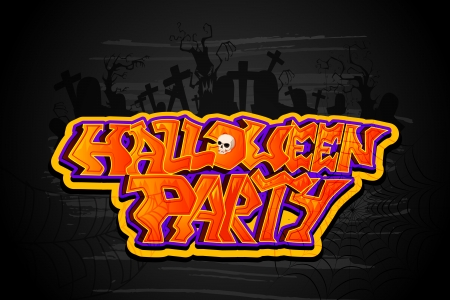 vector illustration of Halloween Party background Vector
