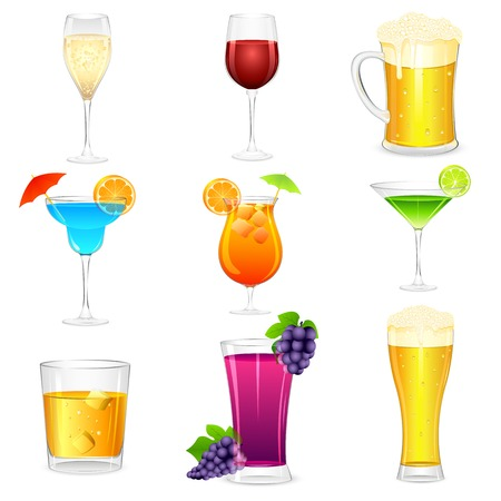 vector illustration of cocktail and hard drinks Stock Vector - 22725213