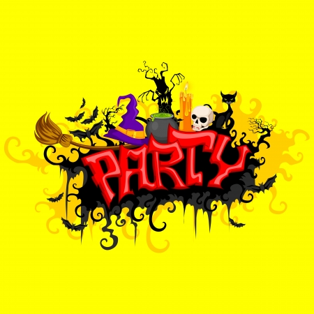 vector illustration of Halloween Party Vector