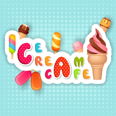 vector illustration of Ice cream Poster design