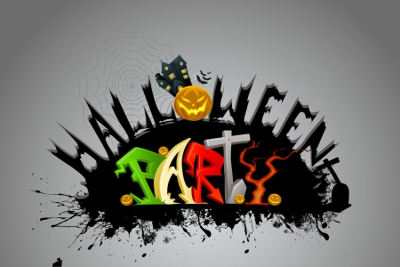 vector illustration of Halloween Party Stock Vector - 22725250
