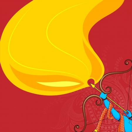 vector illustratie van Rama doden Ravana in Happy Dussehra Stock Illustratie