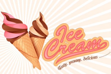 vector illustration of colorful ice cream cone Vector