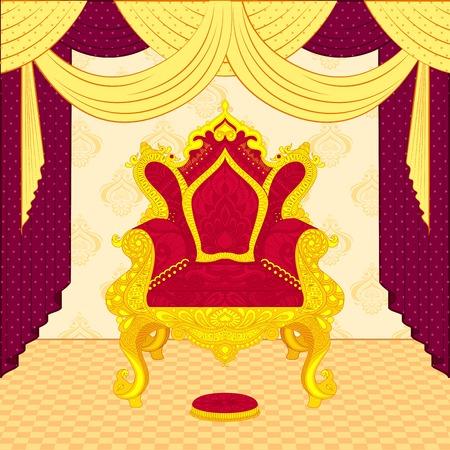 trono: ilustración vectorial de colorido trono real