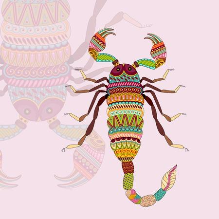 astrologer: vector illustration of Scorpio Zodiac Sign