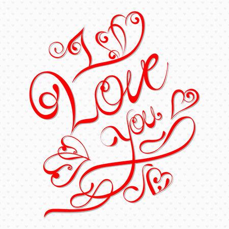 love target: vector illustration of I Love You Valentine background