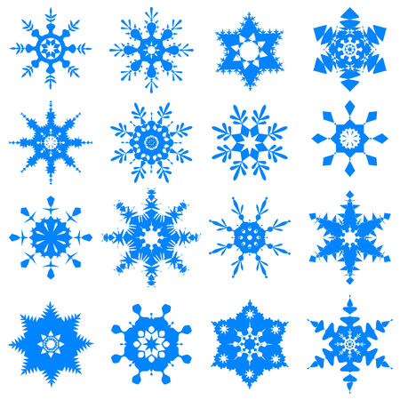 vector illustration of collection of snowflake design illustration