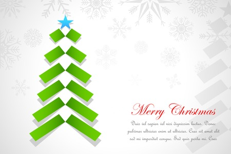 vector illustration of paper strip Christmas Tree illustration