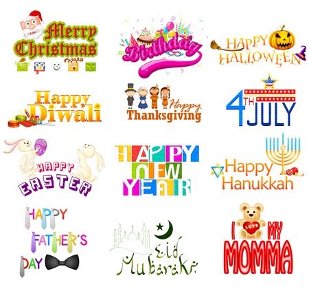 vector illustration of typography design for Holidays illustration