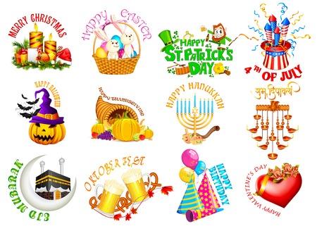 vector illustration of design element for Holidays illustration