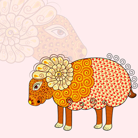 vector illustration of Aries Zodiac Sign illustration