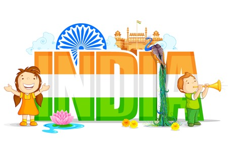 vector illustration of colorful India Wallpaper
