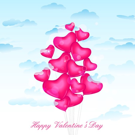 vector illustration of heart balloon for Valentines Day illustration