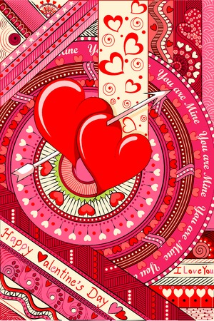 vector illustration of colorful Love Background illustration