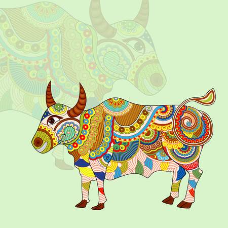 fortunetelling: vector illustration of Taurus Zodiac Sign