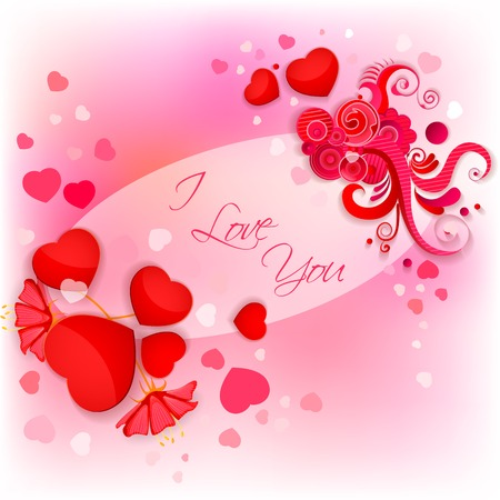vector illustration of I Love You Valentine Background illustration