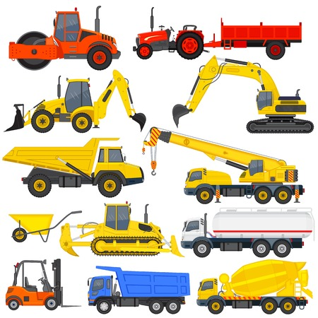 digger: vector illustration of industrial transportation machine