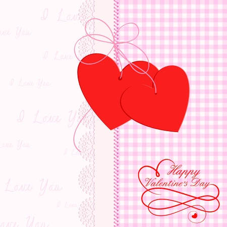 vector illustration of heart shape frame with lace work illustration
