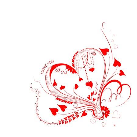 vector illustration of I Love You Valentine Background