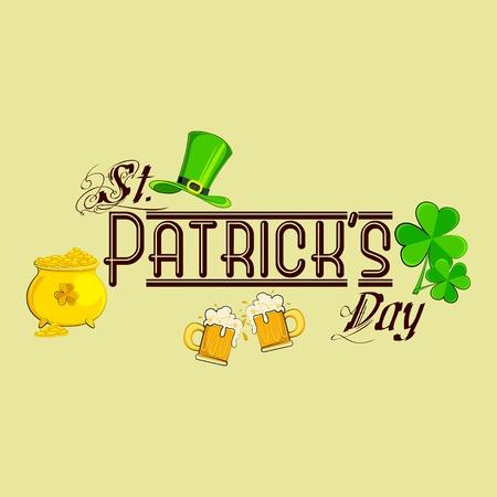 st patricks party: vector illustration of Saint Patricks Day design