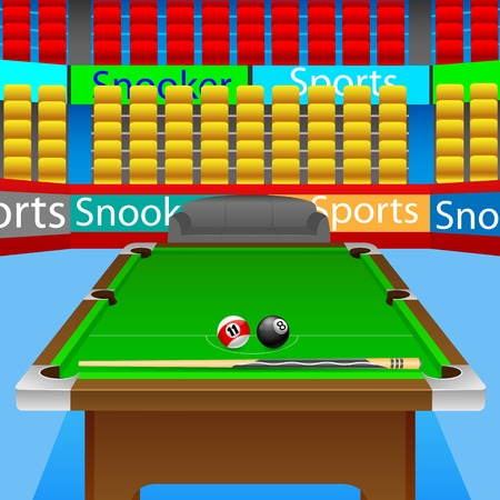 vector illustration of snooker table with balls Vector