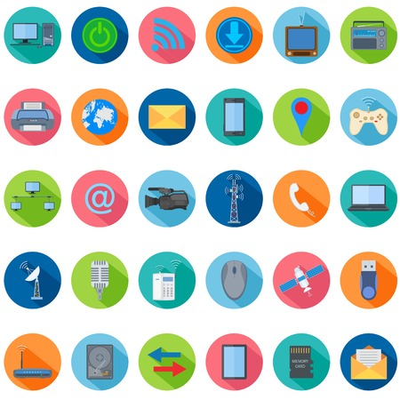 illustration of technology icon collection