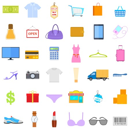 illustration of Fashion and Sale Icon Vector