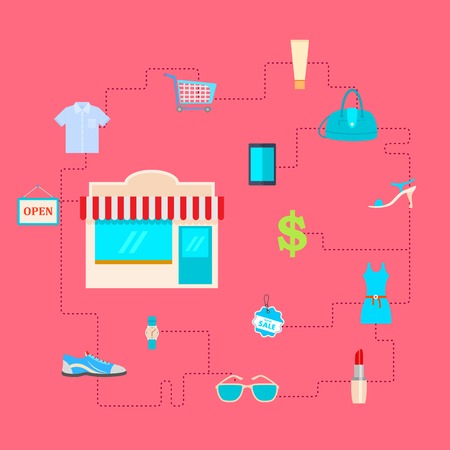 illustration of pictogram depicting Fashion and Sale Stock Vector - 28231141