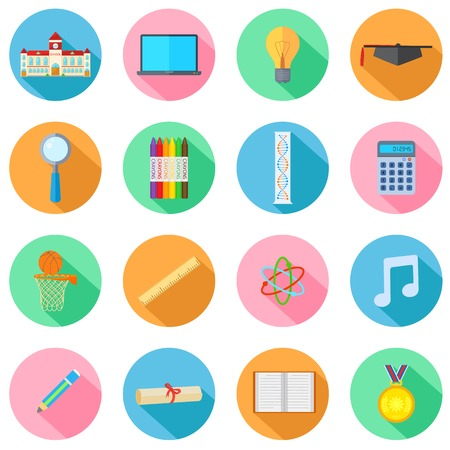 illustration of collection of Education Icon Vector