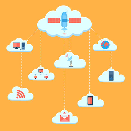 illustration of pictogram of cloud computing Vector