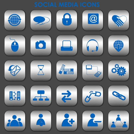 illustration of collection of social media icons Vector