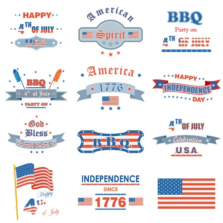 vector illustration of design for Fourth of July American Independence Day Illustration