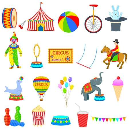 vector illustration of circus theme object