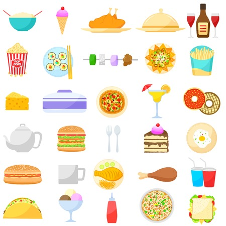 vector illustration of food and drink item Vector