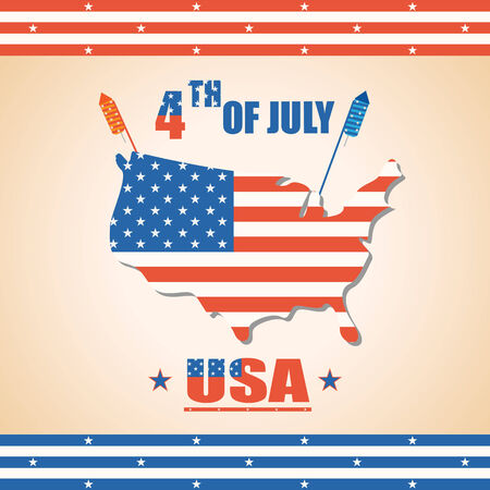 president day: vector illustration of background of Fourth of July American Independence Day
