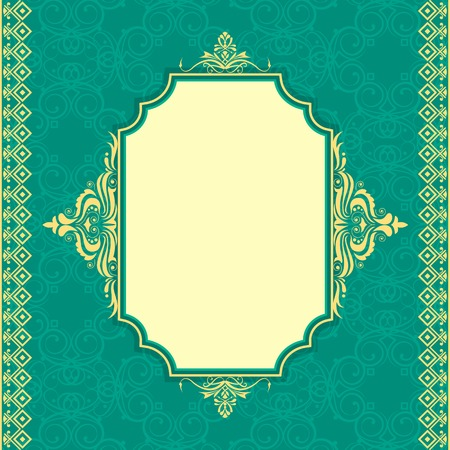 illustration of islamic background with floral design Vector