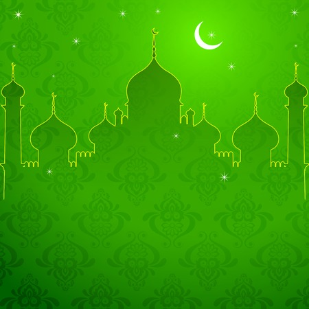ramzan: illustration of Eid Mubarak