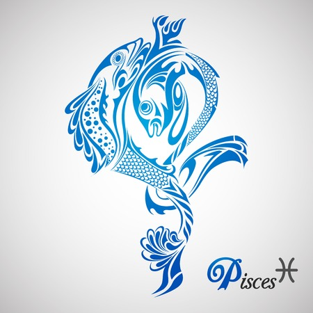 pisces star: vector illustration of Pisces Zodiac Sign Illustration