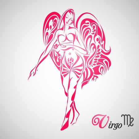 illustration of Virgo Zodiac Sign Vector