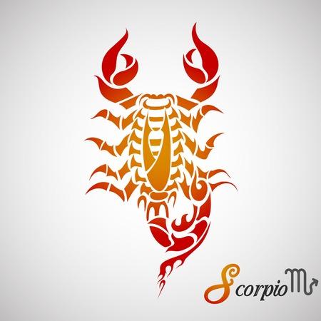 illustration of Scorpio Zodiac Sign Vector