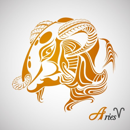 illustration of Aries Zodiac Sign Vector