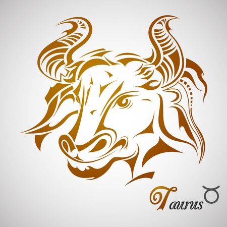 illustration of Taurus Zodiac Sign Vector