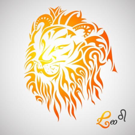 ilustración vectorial de Leo Signo del Zodiaco