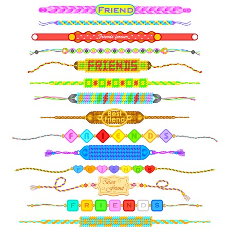 friendship: Colorful Friendship bands