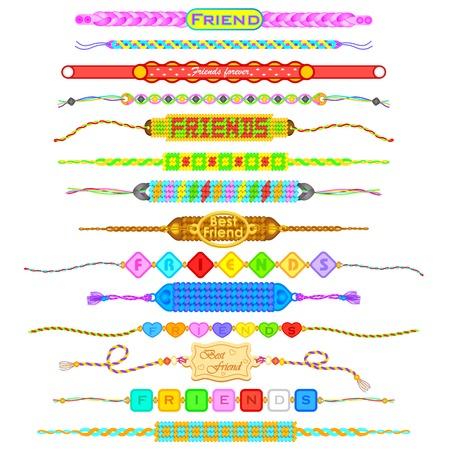 Kleurrijke Vriendschap bands Stockfoto - 30535832