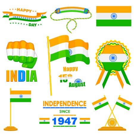 Object on India Independence day theme Stock Vector - 30535864