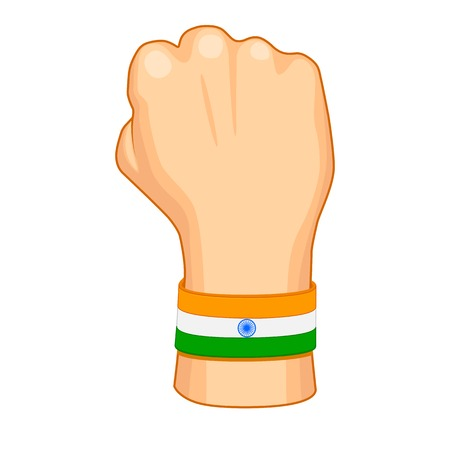 Hand painted in Indian flag color Vector