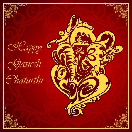 ganapati: Lord Ganesha on floral backdrop