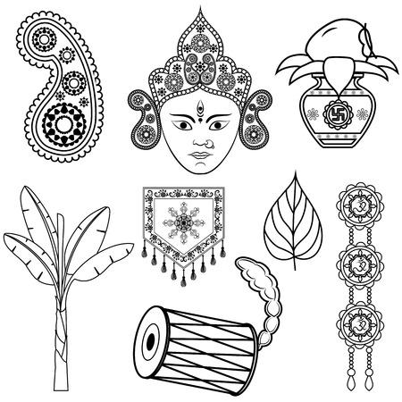 Ontwerp voor Dussehra decoratie